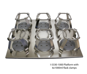 Platform with 6x1000ml Flask Clamps
